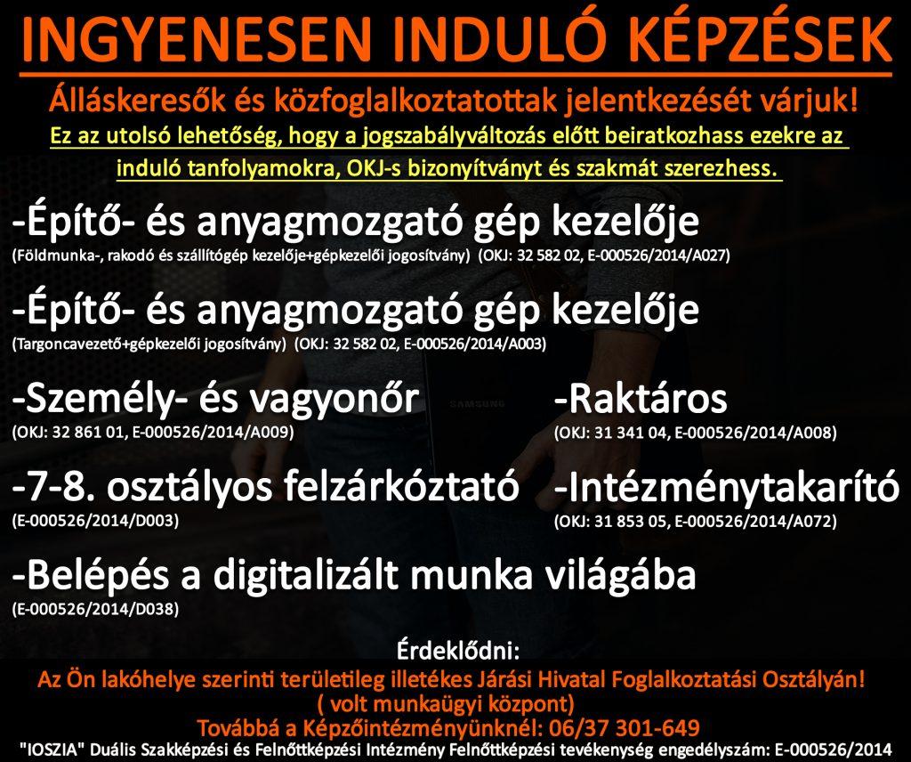 Csongrád megye - Ingyenes képzések - Felnőttképzés - felnottkepzes.hu - IOSZIA